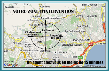 Flash Alarm, zone d'intervention